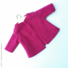 Fleece jas - fuchsia